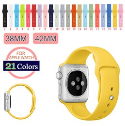 Wholesale manufacturer original Colors Colorful mm Silicone Strap For Apple Watch Band Sports Buckle Bracelet