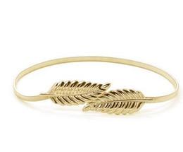 New arrival fashion belts gold silver women belts Elastic elastic waist chain leaves women's belt buckle decoration about 60-80cm