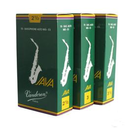 Wholesale France Vandoren Java Saxophone Alto Mib Eb Reeds Strength Grey Green Box of