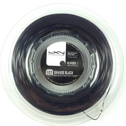 Wholesale m reel Luxilon Tennis String Luxilon Power Savage Black mm tennis racket string Luxilon Tennis Racket Line