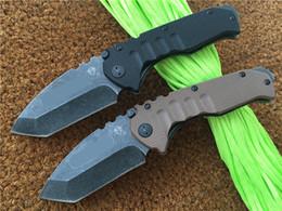 Wholesale Medford Praetorian G Knife G Flame quot D2 steel Stonewash Tanto MKT Desert Black Tactical knives Folding blade styles