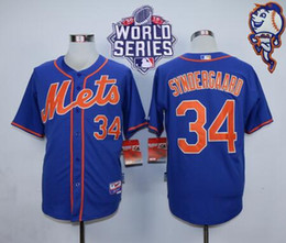 Wholesale New York Mets Noah Snydergaard Jersey w Mr Mets Patch Baseball Shirt Size