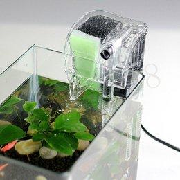 Wholesale 220 V Fish Turtle Tank Aquarium External Oxygen Pump Waterfall Filter Mini Aquarium Power Filter US Plug