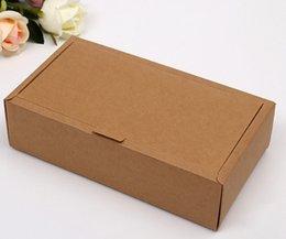 Latas de papel en venta-logo Venta directa de fábrica se pueden imprimir Kraft cajas de papel de embalaje caja de papel Clamshell envío libre 22 * 14.5 * 5.5cm