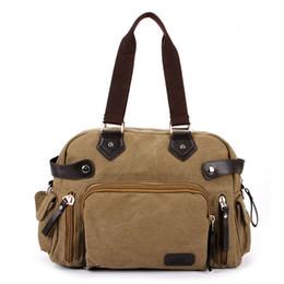 Wholesale Best Selling Male Leisure Satchel Briefcase Tote Men Shoulder Messenger Bag Travel Handbag Durable Canvas Crossbody Bags ZA0210