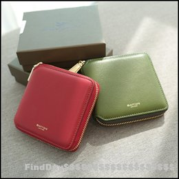fashion women genuine leather square fringed wallet zipper short paragraph small wallet minimalist mini purse