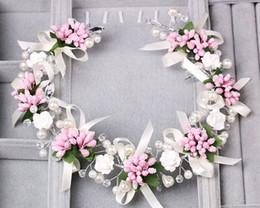 Package mail tire 2016 Korean handmade jewelry bride wedding dress headdress jewelry bridesmaid hair pink color