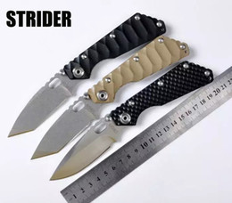 High Quality!Strider Grimlock tactical Folding Knife G10 stainless steel Handle 7Cr17 Pocket survival Knife Camping Hunting Knives