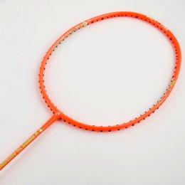 Wholesale 2016 Sport dexterous Badminton Rackets kids orange High Quality Durable Badminton Racket Racquet Carbon Fiber Badminton Racket Own brand