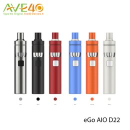 Wholesale Joyetech eGo Aio D22 Starter Kit All in one mAh Big Power in small Body with ml Atomizer Tank Original