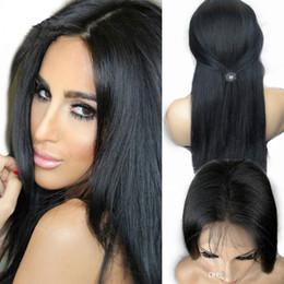 Célébrités de couleur naturelle des cheveux en Ligne-Vente chaude de cheveux indiens cheveux pleine perruques dentelle célébrité devant perruques de dentelle couleur naturelle 130% de densité en stock