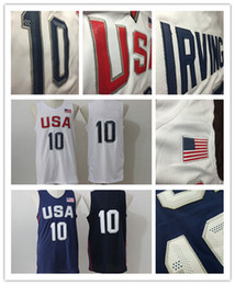 Wholesale Cheap Men S Gold - 2016 Mens USA Basketball Jersey #10 Player Cheap Basketball Jerseys White Blue Jersey Basketball All Stitched Free Shipping