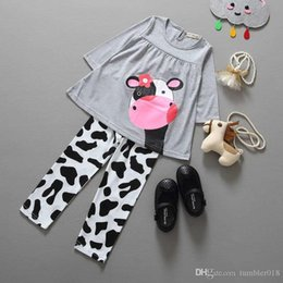 2016 foreign trade hot money children's clothing new spring and autumn children's suit dairy girl set wholesale and ret