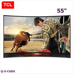 TCL 55 inches Curved surface quantum dot LCD TV Smart TV Ultra HD 4K TV stereo base