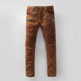 Франция человек для продажи-Франция Pierre Ripped джинсы мужские хлопок прямые штаны промывают брюки среднего роста размер плюс размер Горячие мужчины продажи байкер джинсы Мужчины вскользь джинсы