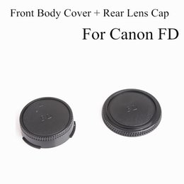Wholesale 1Pair Camera Lens Body Cover Rear Lens Cap Hood Protector for CANON FD Camera Lens Protect Caps Holder Keeper With Low Price