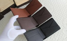 Wholesale New Mens Brand Leather Wallet Mens Genuine Leather With Wallets For Men Purse Wallet Men Wallet Cowhide with box free Epacket shippi