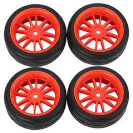 Wholesale RC Car On Road Black Rubber Tire Paw Red Wheels Rim Durable