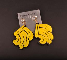 Fashion Personality Club DJ Dancer Jewelry Accessories Hip Hop Exaggerate Banana Acrylic Women Stud Earrings Wholesale