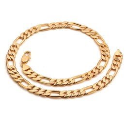 Cool Mens 18k Gold Plated Flat Cuban Link Chain Heavy Curb Jewelry Necklace