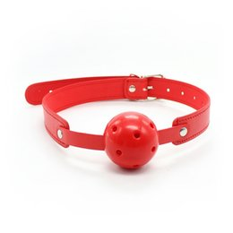 Wholesale Band Ball Mouth Gag Oral Fixation mouth stuffed Adult Products Mouth Ball Gag for Sex Couples Flirting Sex Products Toys