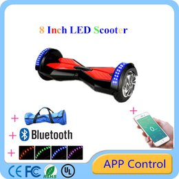 Wholesale Bluetooth quot Hoverboards Smart Balance Wheel Electric Scooters UL Certification Battery With New APP Control LED Light Multicolor