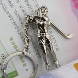 Creative Woman Women Swing Silver Golf Sports Keychain Keyring Key Chain Ring Key Fob 84904 chain ring jewelry