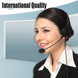 Wholesale USB call center customer service telephone computer microphone earphone headphone operator headset mounted mic