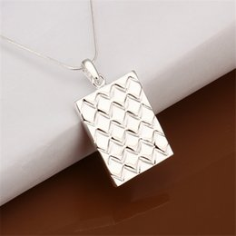 Brand new Pineapple Stripe Pendant Necklace sterling silver plate necklace STSN401, fashion 925 silver necklace factory direct sale