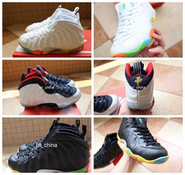 Wholesale 2016 Foamposites Air Penny Hardaway Basketball Shoes For Women High Quality Foamposite Athletic Sport Sneakers Eur Size