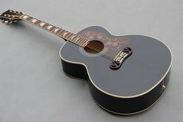 Wholesale Hot selling inch jumbo BK classical acoustic guitar J200 rosewood fingerboard