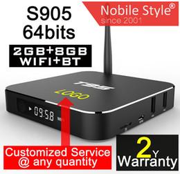 Wholesale 1PCS Customized years warranty Smart Android TV boxes K KODI16 Ares Spinztv Blackbox Apolo Pulse S905 S905X GB GB Bluetooth T95 gb