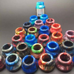 Wide Bore Drip Tips Epoxy Resin Drip Tips Mouthpiece For E Cigs Electronic Cigarette 22mm RDA Atomizers Caps DHL Free