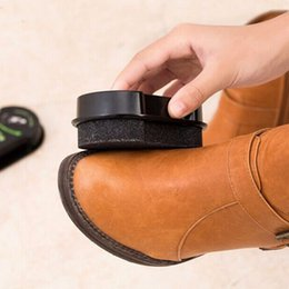 Wholesale Leather Polishing Cleaning liquid wax shining Sponge polisher For Shoe Boot bag sofa Black Shine Shoes Brush Cleaner
