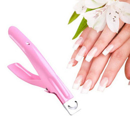 Wholesale Edge Nail Art Manicure Acrylic UV Gel False Tips Clipper Cutter Pink New Mail