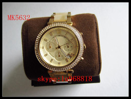Wholesale TOP QUALITY BEST PRICE Drop Ship WOMEN GOLD DIAL CRYSTALS TORTOISE BAND WATCH MK5632 MK5688 MK5896 MK6119
