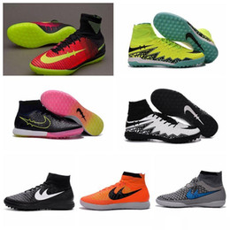 Wholesale MagistaX Proximo IC TF Kids Women Futsal Soccer Boots New mercurial soccer cleats hypervenom phantom II High Ankle indoor soccer shoes