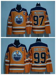 Oilers #97 Connor McDavid Hockey Jerseys New style AD Wears #99 Gretzky Hockey Jersey Orange Man Hockey Uniform for 2017 Cheap Sale
