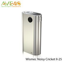 Wismec Noisy Cricket II-25 Box Mod fit 18650 Cell 510 Spring Thread 100% Original free Shipping