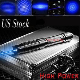 Wholesale Super Powerful Light Cigarette Absolutely Real Adjustable Blue Laser Pointer Laser Heads Glasses Battery Charger