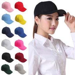 Los sombreros de los hombres en Línea-2016 Hombres elegantes mujeres Plain gorra de béisbol en blanco ajustable sombrero sólido pre curvado Visor llano cabido gorra de béisbol curvada Visor sólido gorra de béisbol