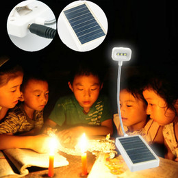 2017 à double lampe de lecture Lampe de lecture LED Mini lampe de chevet Façade double source d'énergie Chargeur solaire et USB DC 5V promotion à double lampe de lecture