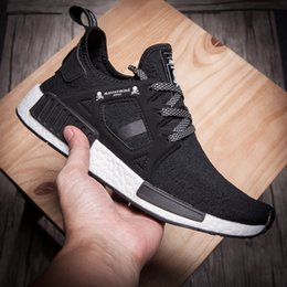 Wholesale mastermind JAPAN x Originals NMD Primeknit XR1 MMJ Black Olive Green Men and Women Sneakers Unisex Shoes With Box