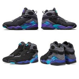 Wholesale Aqua Air Retro VIII Mens basketball shoes Original Quality Retro s Chrome sports shoes Phoenix Playoff on Sales