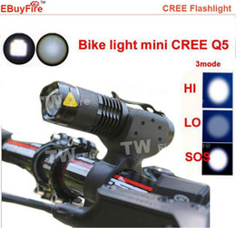 2000lm bike light CREE Q5 zoom flashlight mini torch LED Cycling Bike Bicycle Front Head Light With Mount