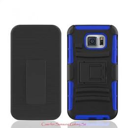 Wholesale para Samsung Galaxy s6 caja del teléfono celular de la cubierta de la moda anti skpidding creativo cáscara impermeable stents anti resbaladizas de la cubierta del color puro de TPU PC