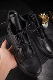 Wholesale New Good Quality Black Zanotty Authentic Leather Footwear For Mens Brand Italian Lace Up Shoes