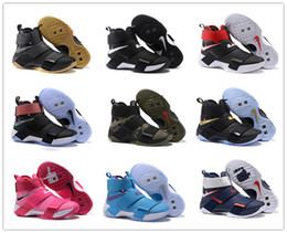 Wholesale 2016 Top quality lebron Soldiers Basketball Shoes for Men Kids Women Cheap Sale s James Sports Training Sneakers Size