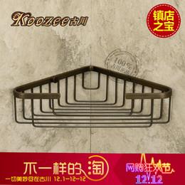 Wholesale The ancient Sichuan genuine antique bronze pendant pendant bathroom rack single angle angle frame copper basket