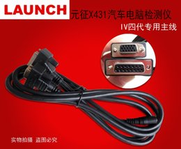 Wholesale 100 Original LAUNCH X Main Cable OBDII X431 IV th Fourth Cables Generation Diagnostic Tools Test Cables OBDII Adaptor